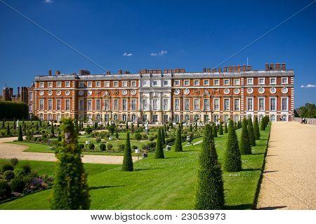 Hampton Court Palace and its park