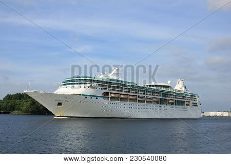 Velsen, The Netherlands - June 3rd 2017: Vision Of The Seas, Royal Caribbean International On North