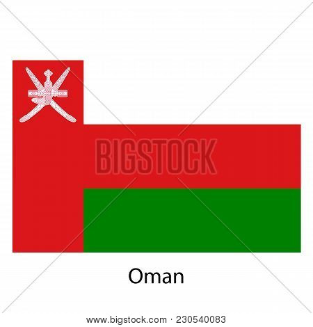 Flag Of The Country Oman On White Background. Exact Colors.