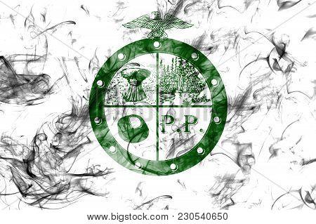 Pee Pee Township City Smoke Flag, Ohio State, United States Of America