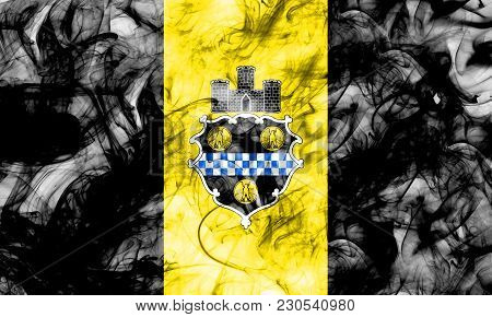 Pittsburgh City Smoke Flag, Pennsylvania State, United States Of America