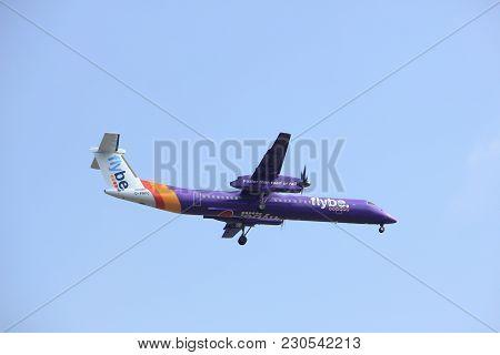 Amsterdam, The Netherlands - March 31st, 2017: G-prpg Flybe De Havilland Canada Dhc-8-400  Approachi
