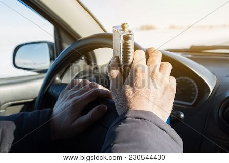 Alcohol Is Driving A Car While Driving.