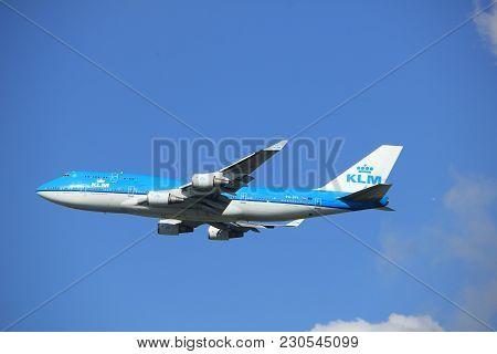 Amsterdam The Netherlands - September 23rd 2017: Ph-bfi Klm Royal Dutch Airlines Boeing 747 Takeoff