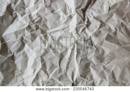 Crumpled Recycle Paper Background, Textured For Background.