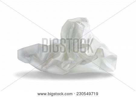 Crumpled Paper - Object On White Background