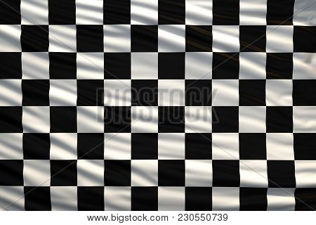Black And White Checkered Flag, Racing Or Finishing Flag