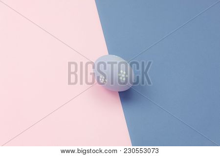 Table Top View  Image Shot Of Arrangement Decoration Happy Easter Holiday Background Concept.flat La