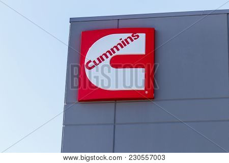 Whitestown - Circa March 2018: Cummins Inc. Signage And Logo. Cummins Is A Manufacturer Of Engines A