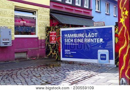 Reeperbahn In The City Of Hamburg Germany Europe The Entertainment District In The District Of St. P