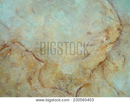 Mediterranean Wall Texture. Background Marble By The Venetian Plaster. Decorative Grunge Space