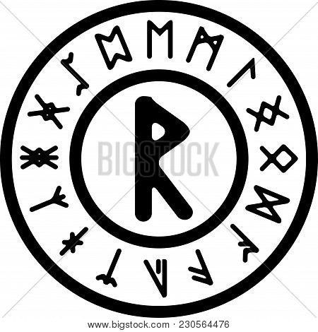 Ancient Rad Rune. Vector Illutration For Design