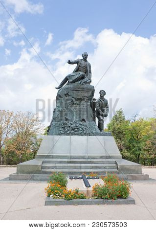 Sevastopol, Crimea- August 13, 2012: Monument To The Hero Of The Crimean War Of 1853-1856 Admiral Vl