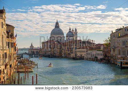 Grand Canal And Basilica Santa Maria Della Salute, Venice