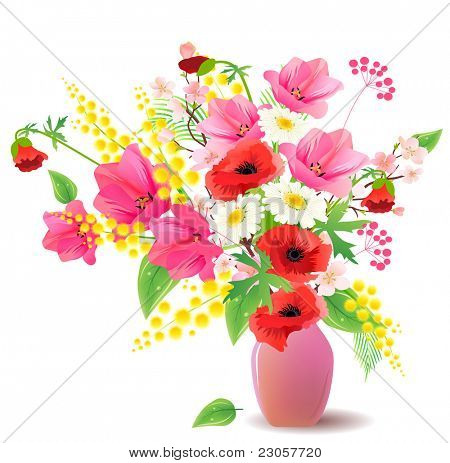 Flower bunch in vase