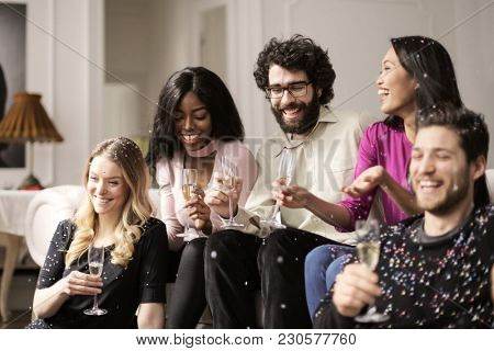 Celebrating with friends