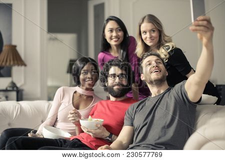 Selfie with some friends