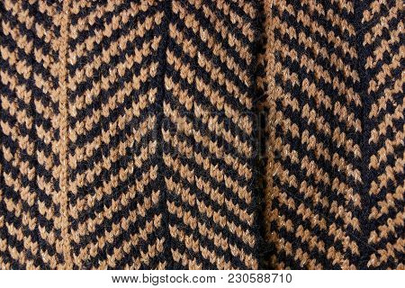 Black Brown Striped Fabric Texture Of Clothes
