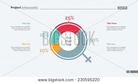 Social Survey Slide Template. Business Data. Graph, Diagram, Design. Creative Concept For Infographi