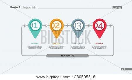 Step By Step Infographics Slide Template. Business Data. Graph, Diagram, Design. Creative Concept Fo