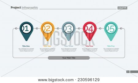 Timeline Pin Pointer Slide Template. Business Data. Graph, Diagram, Design. Creative Concept For Inf