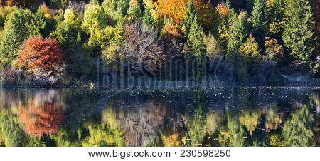 Beautiful Lake In Plitvice National Park, Croatia