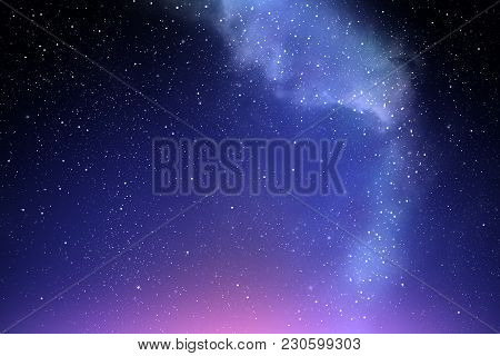 Milky Way As Night Sky Background, Night Sky Wallpaper Concept