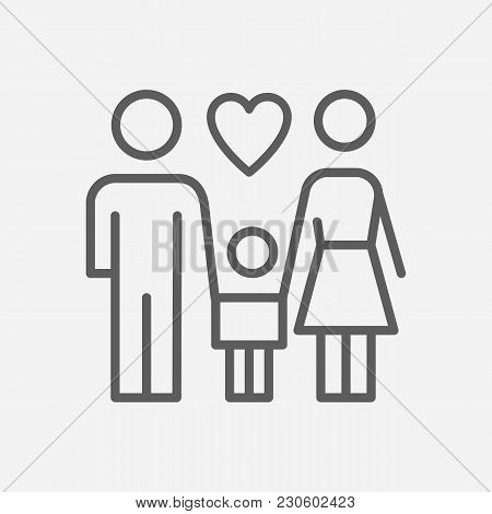 Family Icon Line Symbol. Isolated Vector Illustration Of  Icon Sign Concept For Your Web Site Mobile