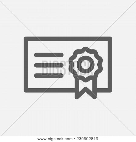 Bond Icon Line Symbol. Isolated Vector Illustration Of  Icon Sign Concept For Your Web Site Mobile A