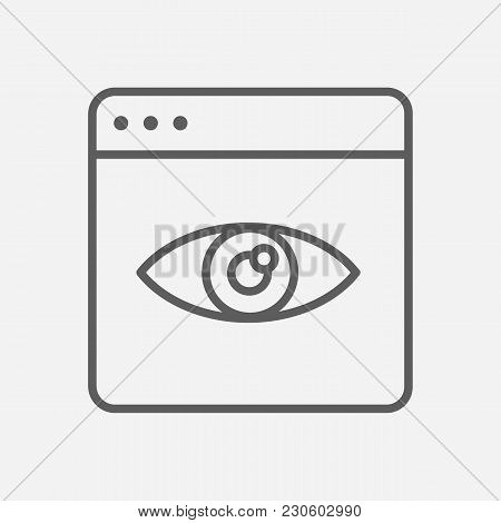Page View Icon Line Symbol. Isolated Vector Illustration Of  Icon Sign Concept For Your Web Site Mob