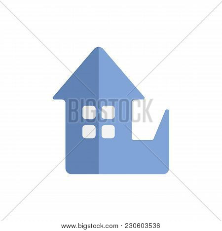 Home Replace Icon Flat Symbol. Isolated  Illustration Of  Icon Sign Concept For Your Web Site Mobile