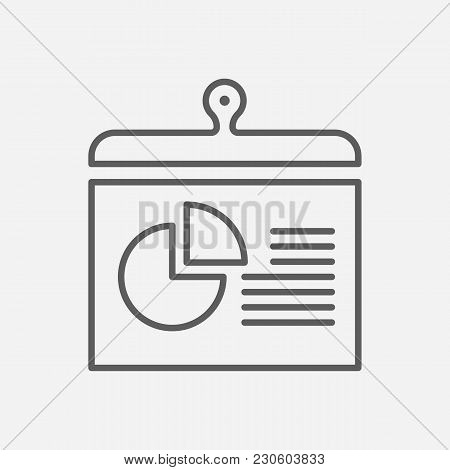 Report Icon Line Symbol. Isolated  Illustration Of  Icon Sign Concept For Your Web Site Mobile App L