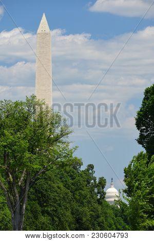 Washington DC - Washington Monument and US Capitol Building