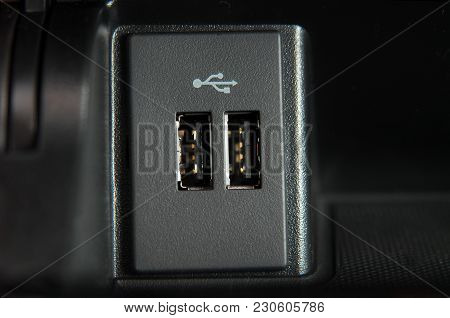 Two Usb Ports On The Passenger Car Console