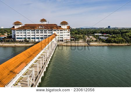 Mooring Dock And Platform For Disembarkation Of Cruise Passengers In Port Klang Malaysia