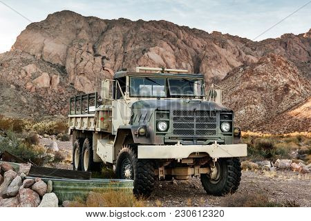 Nelson, Usa - November 22: Old Rusty Truck In Nelson Ghost Town In Nevada On November 22, 2016