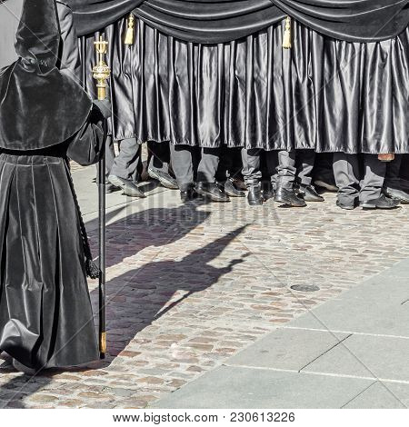 Detail Of A Traditional Spanish Holy Week Procession