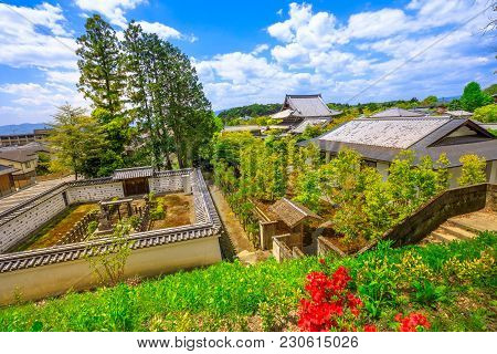 Aerial View Of Eikan-do Temple From Tahoto Pagoda Located Among The Trees On The Hill Above The Temp