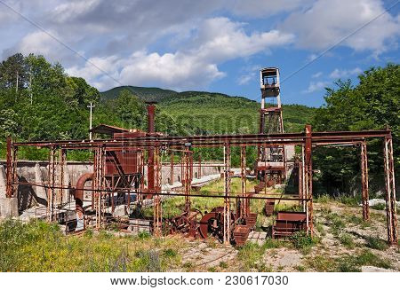 Abbadia San Salvatore, Siena, Tuscany, Italy: The Abandoned Cinnabar Mine From Which Mercury Was Ext