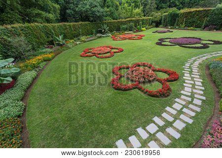 Beautiful garden at Terra Nostra park, Sao Miguel Iskand, Azores