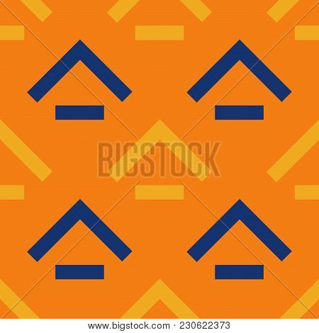 Rooftop Basement Seamless Pattern. Strict Line Geometric Pattern For Your Design.
