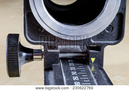 Old Intermediate Bellows For High-magnification Photography. Photo Accessories For Old Cameras.