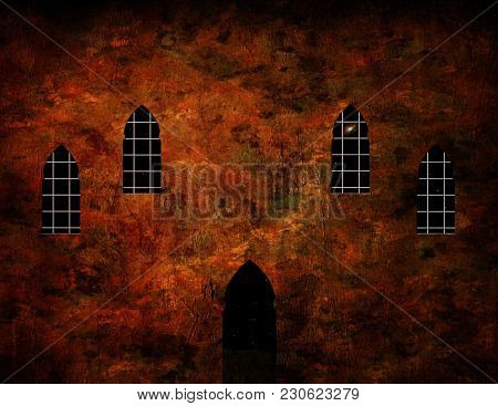 Mosque, monastery or church. 3D rendering