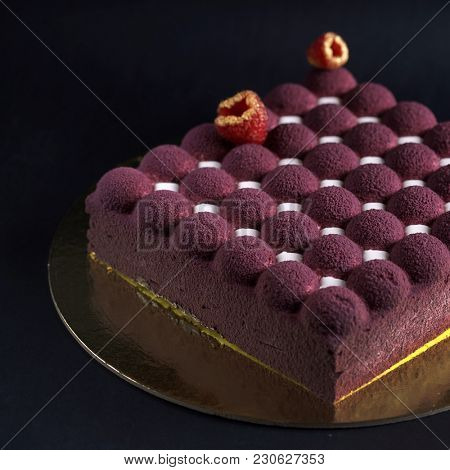 creative cake with fruits and berries