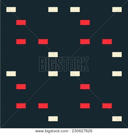 Irregular Step Seamless Pattern. Strict Line Geometric Pattern For Your Design.
