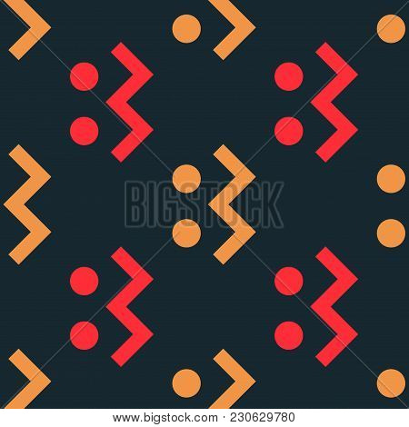 Connect Right Seamless Pattern. Strict Line Geometric Pattern For Your Design.