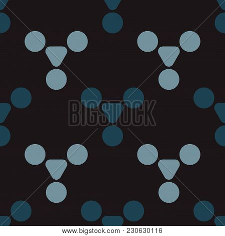 Magic Pills Seamless Pattern. Strict Line Geometric Pattern For Your Design.