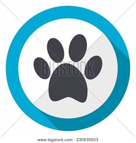 Foot blue flat design web icon