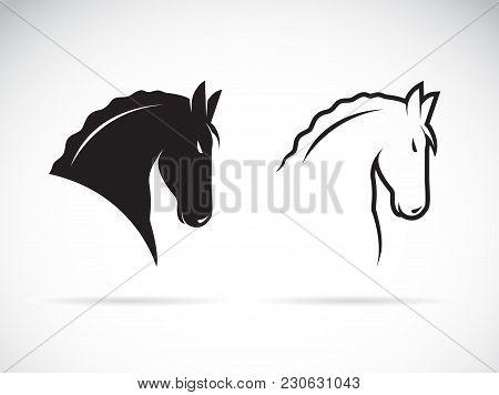 Vector Of Horse Head Design On White Background. Wild Animals. Easy Editable Layered Vector Illustra