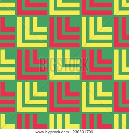 Fence Wall Seamless Pattern. Strict Line Geometric Pattern For Your Design.